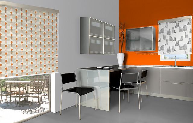 Viste las ventanas de la cocina con estores enrollables for Estores cocina ikea