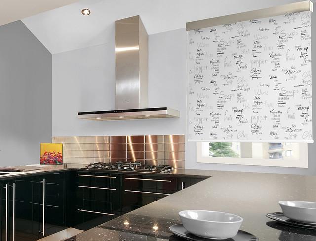Viste las ventanas de la cocina con estores enrollables for Estores de cocina modernos
