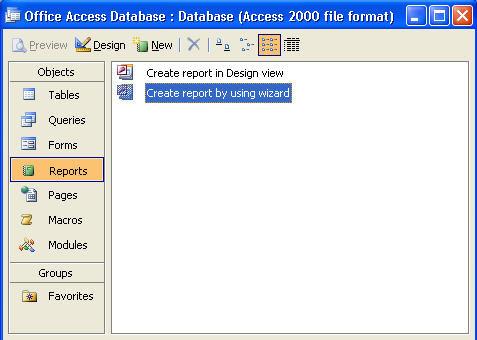 Creating Microsoft Access Reports