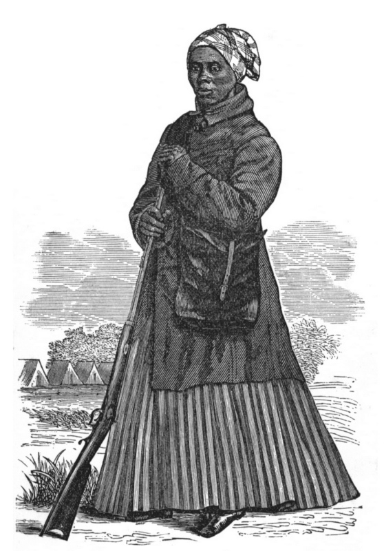 Harriet, in her costume as scout, was furnished by the kindness of Mr. J. C. Darby.