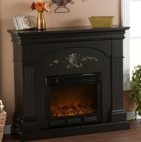 Black Electric Fireplace Mantel | Home Design Ideas