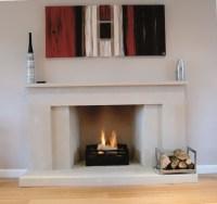 Modern Linear Fireplace Surrounds   Home Design Ideas