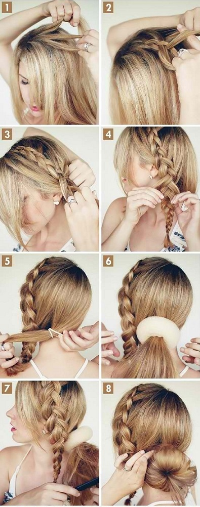 Tuto Coiffure Cheveux Mi Long Noeud Ivory Hairstyle