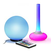 Night Light Glow Table Lamp and Bright Orb Nightlight with ...