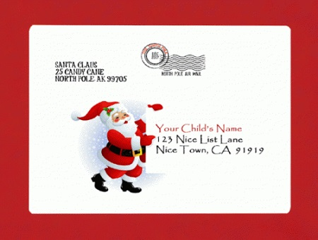 Personalized Letter from Santa by Mail or Digital Download Service