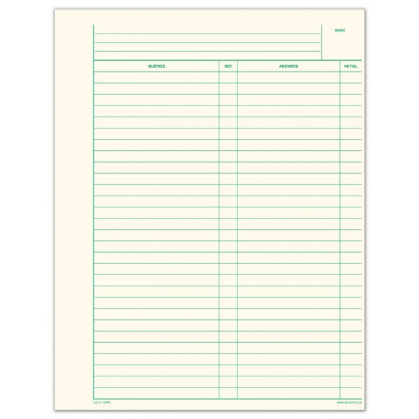 QS11 Form Accounting Forms Supply Co Ltd