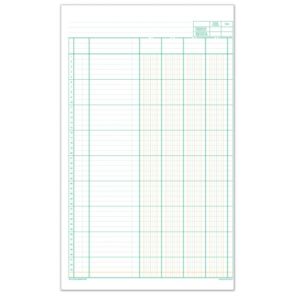RF4-11 Columnar Pad Accounting Forms Supply Co Ltd - printable accounting forms