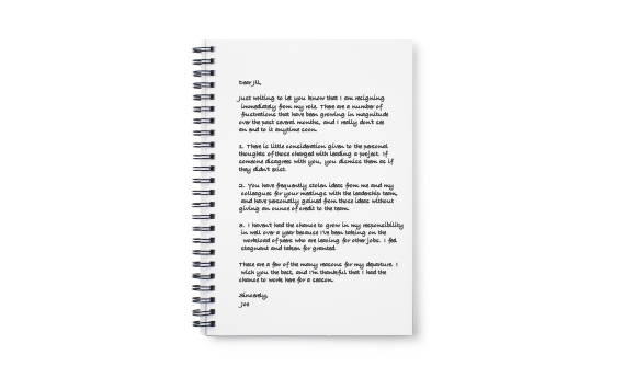 Frustrated With Your Job? Write A Resignation Letter, But Don\u0027t