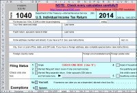 Use Excel to File Your 2014 Form 1040 and Related ...