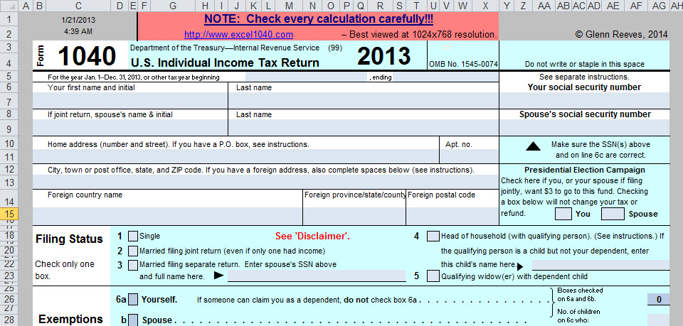 tax form templates - Funfpandroid - printable tax form