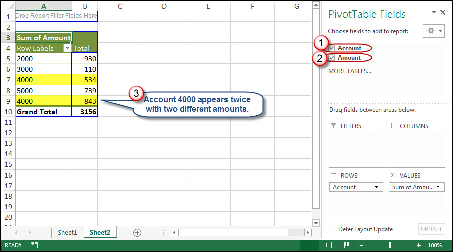 How to Resolve Duplicate Data within Excel Pivot Tables AccountingWEB