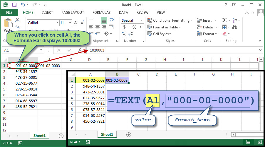 How to Get Excel to Handle Social Security Numbers Properly - ms excel for accounting