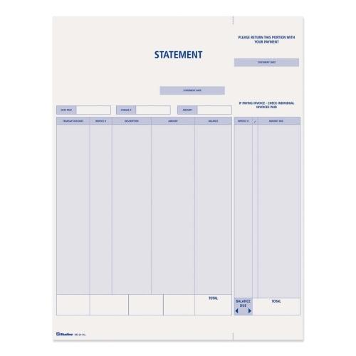 Blueline Computer Invoice Form \u2013 AccuPrint