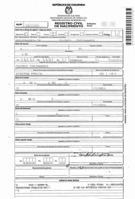 Colombian Birth Certificate Translations - Mexican Birth Certificates