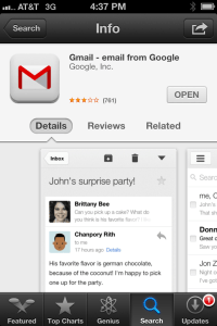 GMail in the App Store