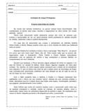 prova de língua portuguesa 5º ano