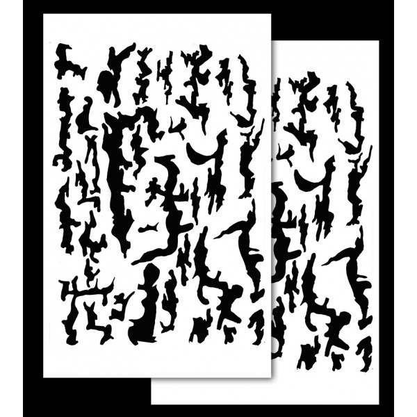 Tree Bark Camouflage Stencils 2 Pack Acid Tactical®