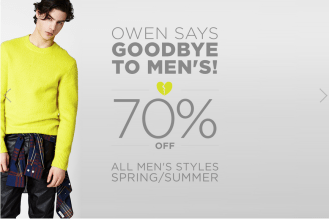Owen Discontinues Men's