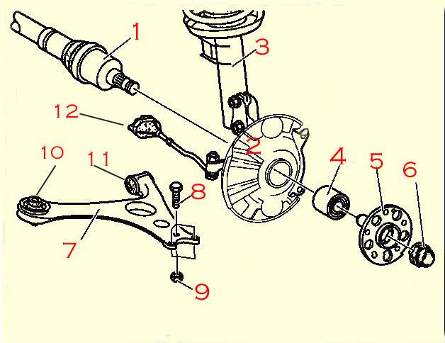 Bert Rowe\u0027s-Mercedes-Benz \u0027A\u0027-class info, Front Suspension