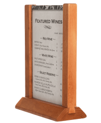 Wooden Picture Frame Card Holders- Restaurant Table Tents