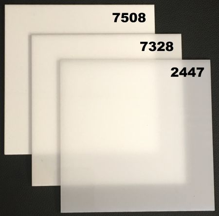 Sample White Acrylic Sheet - Cast ACME Plastics, Inc