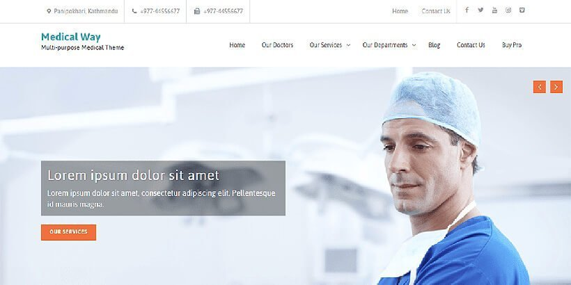 15+ Best Free Medical WordPress Themes \u2013 2018 - Acme Themes