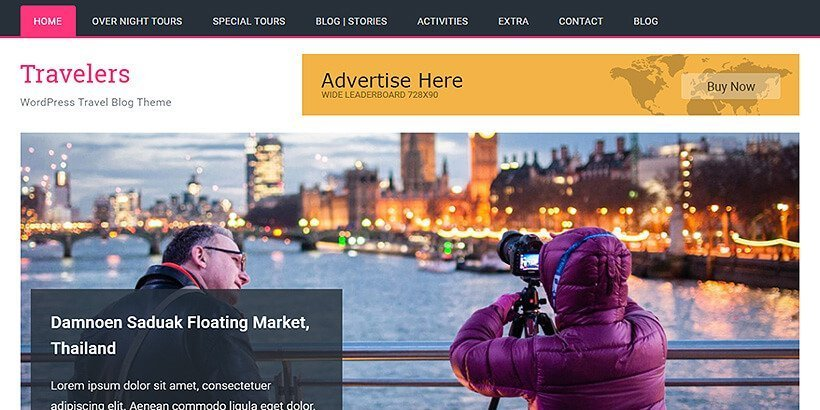 travelers free wordpress travel themes - Acme Themes Blog