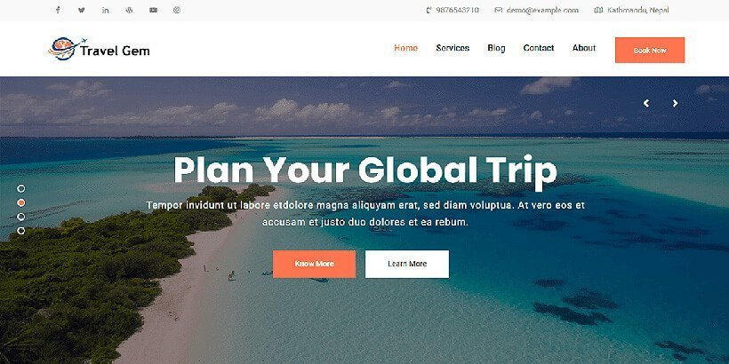 15+ Best Free WordPress Travel Themes for 2019 - Acme Themes