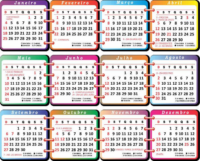 2015 - Veja como está o calendário com tantos feriados prolongados