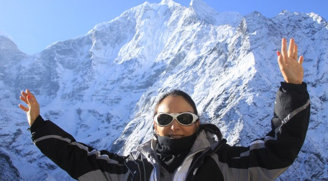 Everest - foto da capa do livro da Jane
