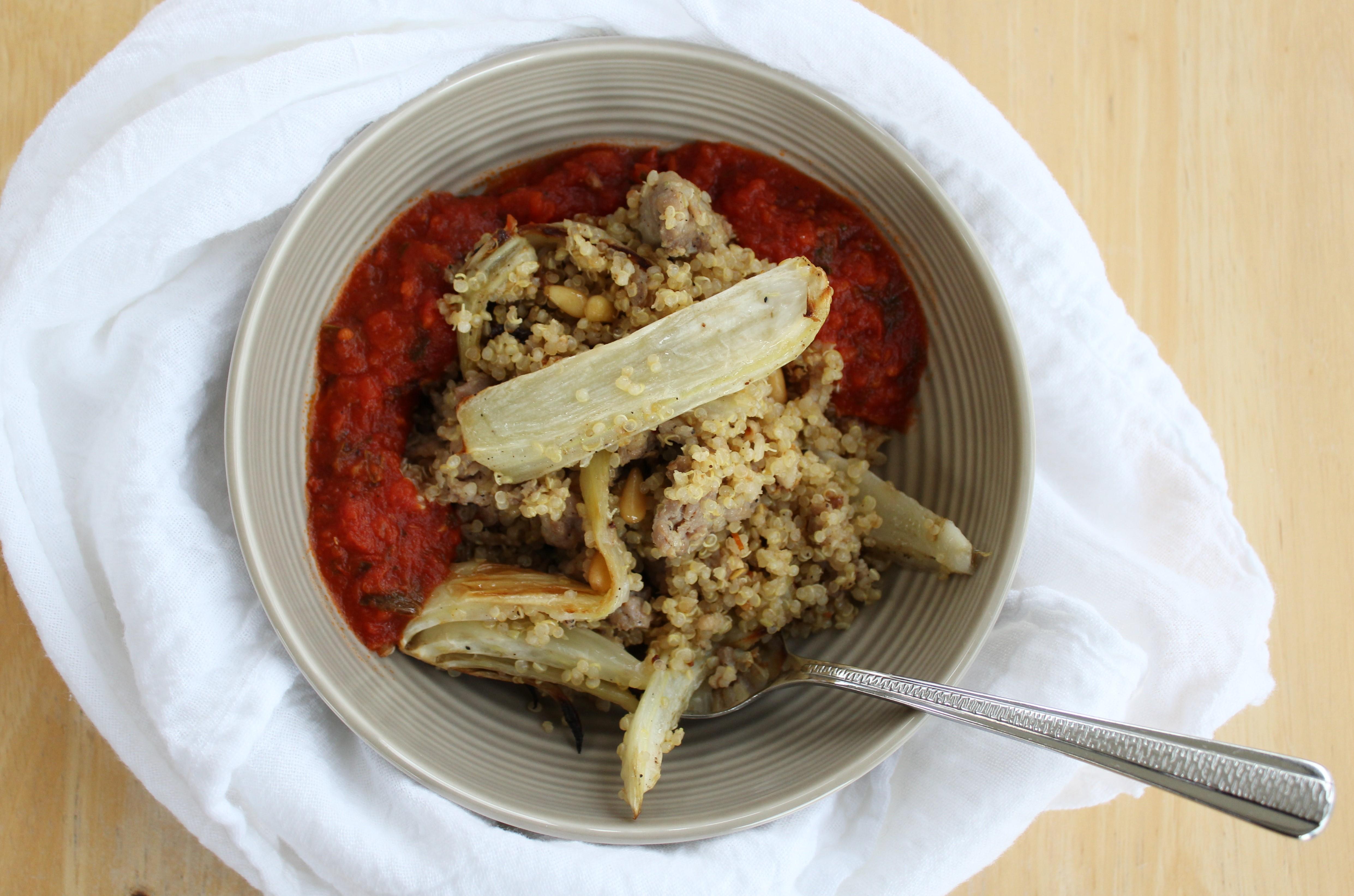 Sausage and Fennel Quinoa Bowls 1