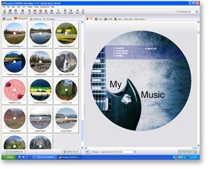 Acoustica CD/DVD Label Maker Screenshots