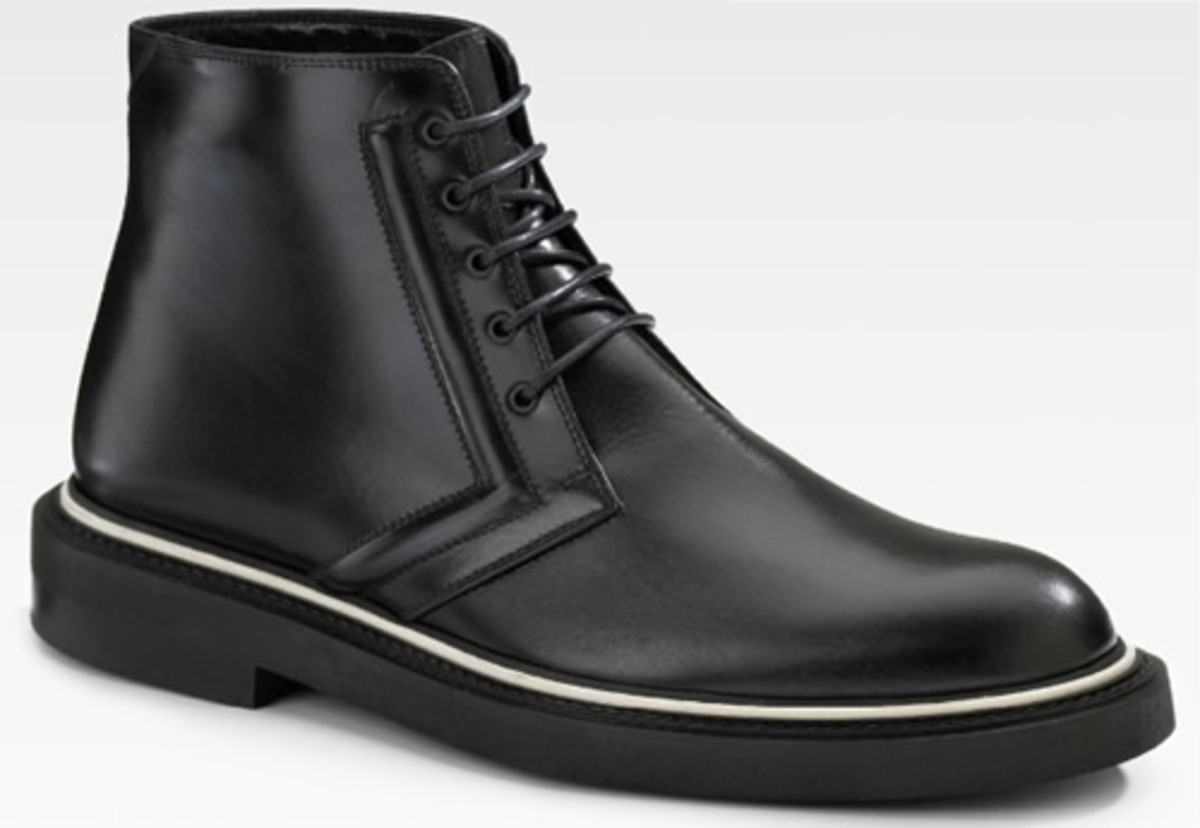Dior Homme Leather Work Boot Acquire