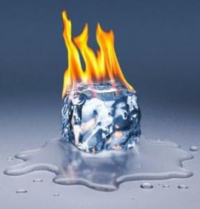 Gelo queimando