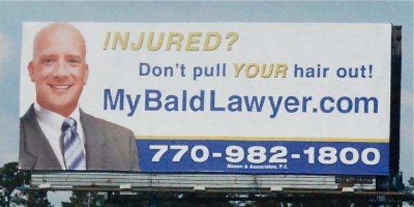 anúncio de advogado