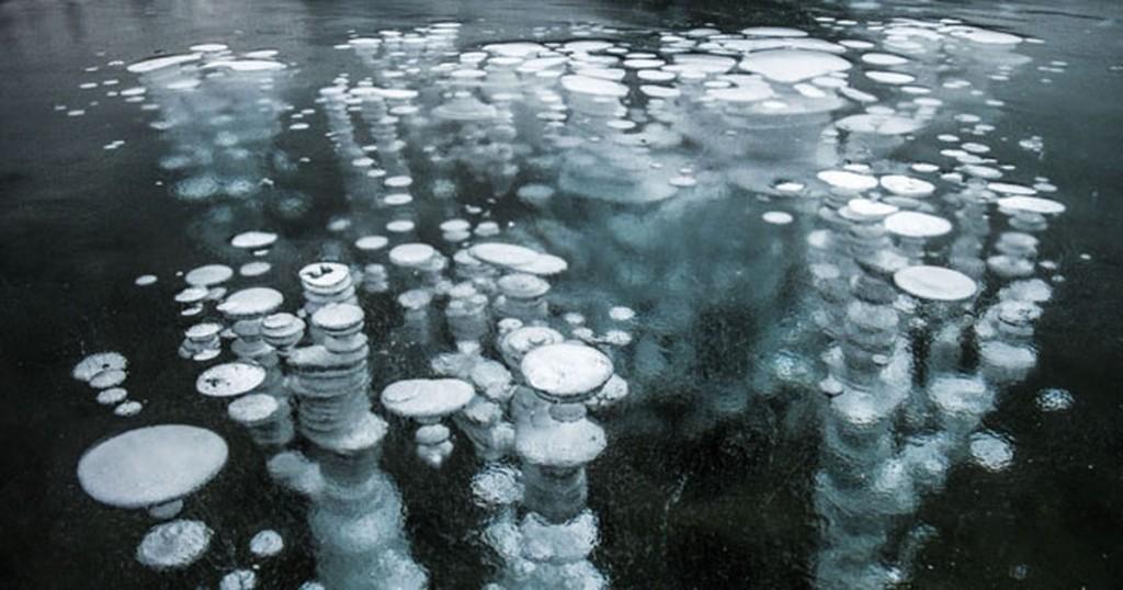 bolhas de metano