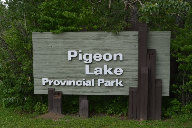 Pigeon Lake Provincial Park Sign