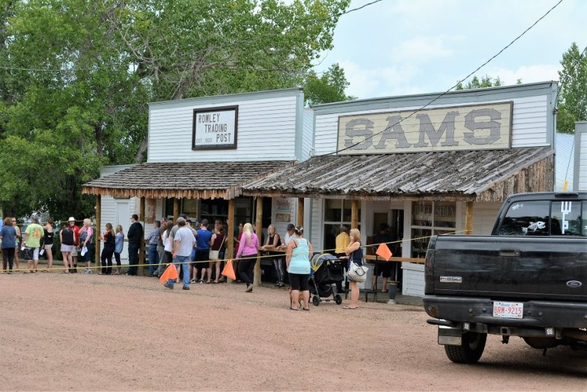 Sams Saloon at Rowley Alberta
