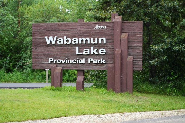 Wabamun Lake Park Sign