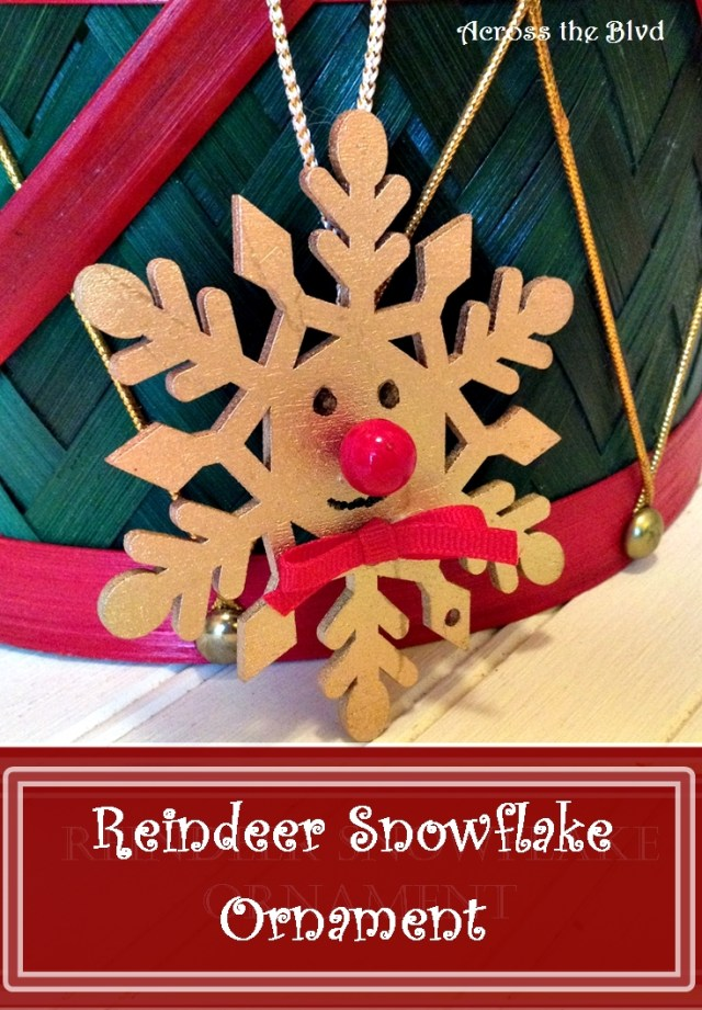 Reindeer Snowflake Ornament Across the Blvd
