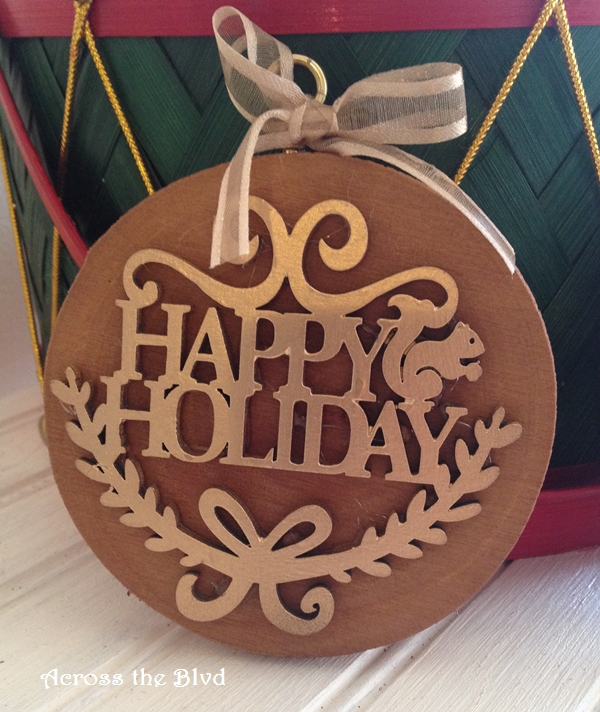 Rustic and Glam DIY Ornament