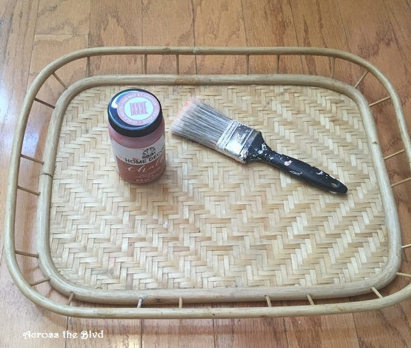 Thrift Store Tray and Paint