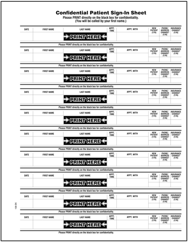 Medical Office Sign In Sheet Printable Medical Sign In - doctor sign in sheet