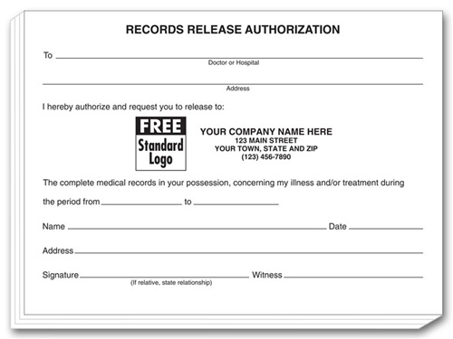 Medical Office Supplies - hipaa compliant release form