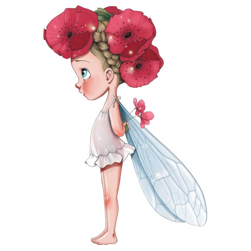 Lovely Baby Girl Wallpapers Wall Stickers Little Fairy Lisette