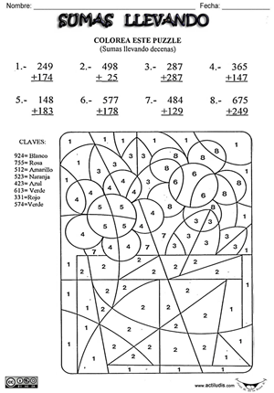 02 Sumas 2 sumandos y  3 dígitos 003p