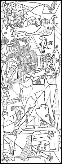 pablo picasso guernica coloring pages