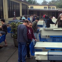 ACLC parents and learners build hundreds of lockers over Winter break for installation at their new facility at 1900 Third Street, Alameda. (David Hoopes)