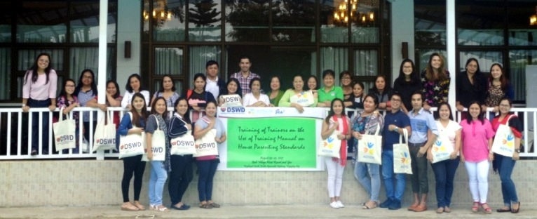 ACTION and DSWD FO-NCR Conduct Training of Trainers on the Use of the Training Manual on House Parenting Standards