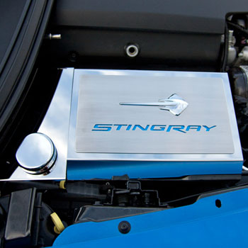 Reviews Corvette C7 Fuse Box Cover STINGRAY Emblem W/Carbon Fiber